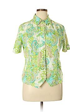 Koret Short Sleeve Button-Down Shirt Size L