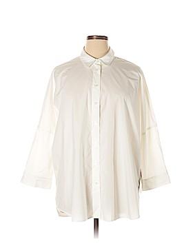 Athleta 3/4 Sleeve Button-Down Shirt Size L