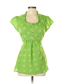April Cornell Short Sleeve Blouse Size S