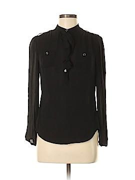 White House Black Market Long Sleeve Silk Top Size 4