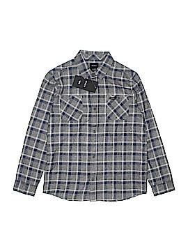 RVCA Long Sleeve Button-Down Shirt Size M (Kids)