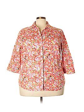 Liz Claiborne 3/4 Sleeve Button-Down Shirt Size 2X (Plus)