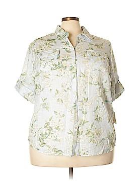 Croft & Barrow 3/4 Sleeve Button-Down Shirt Size 2X (Plus)