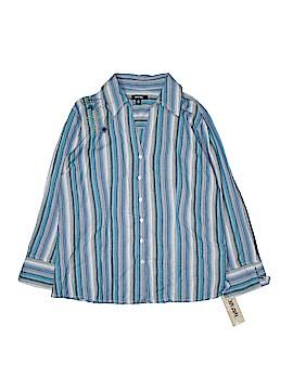 Krazy Kat Long Sleeve Button-Down Shirt Size M
