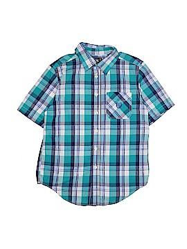 Chaps Short Sleeve Button-Down Shirt Size 10 - 12