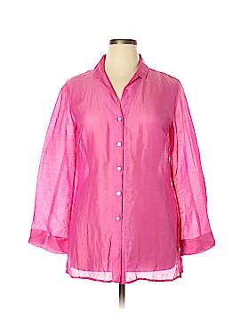 Sigrid Olsen Long Sleeve Blouse Size L