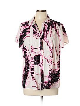 Dana Buchman Short Sleeve Blouse Size XL