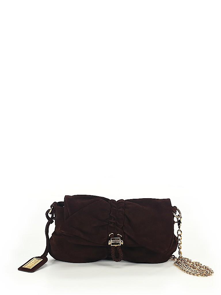 8a51ab9e7b Badgley Mischka 100% Leather Solid Burgundy Leather Crossbody Bag ...