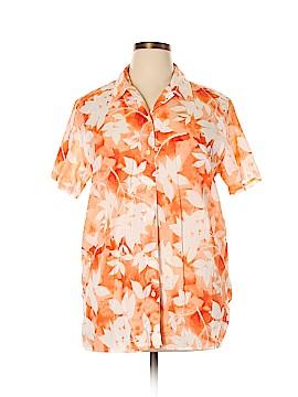 Lizsport Short Sleeve Button-Down Shirt Size XL