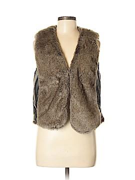 DKNY Jeans Faux Fur Vest Size M