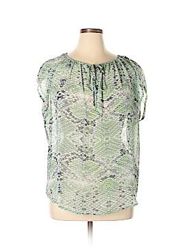 CAbi Short Sleeve Blouse Size L