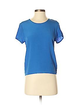 Iris & Ink Short Sleeve Silk Top Size 6