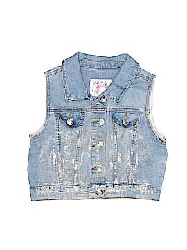 Justice Denim Vest Size 8/10