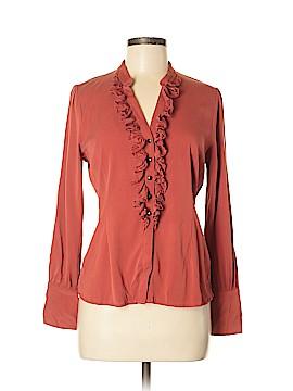 Classiques Entier Long Sleeve Silk Top Size M