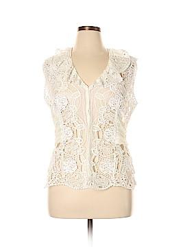 Elie Tahari Short Sleeve Top Size XL