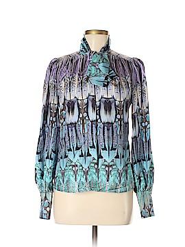Alexander McQueen Long Sleeve Silk Top Size 40 (IT)