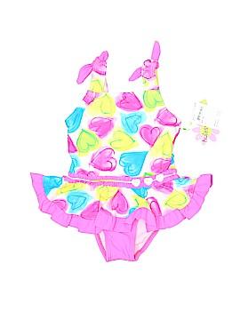 Hula Star One Piece Swimsuit Size 5