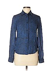 Kenzo Long Sleeve Silk Top