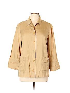 Easy Spirit 3/4 Sleeve Silk Top Size L