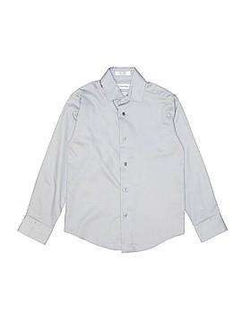 Calvin Klein Long Sleeve Button-Down Shirt Size 8