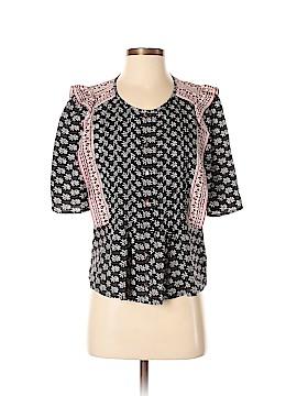 Veronica Beard Short Sleeve Silk Top Size 6