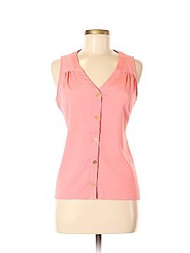 Milano Sleeveless Button-Down Shirt Size M