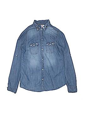 Japna Kids Long Sleeve Button-Down Shirt Size 14