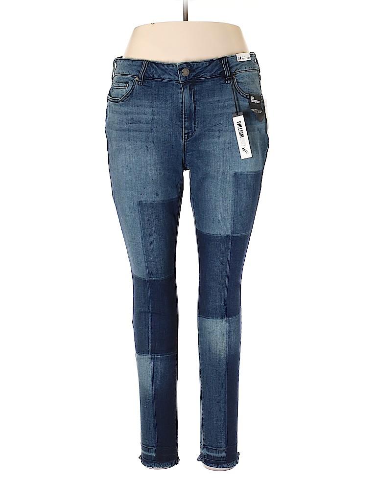 a6d17df303c1c William Rast Solid Blue Jeggings Size 18 (Plus) - 59% off   thredUP