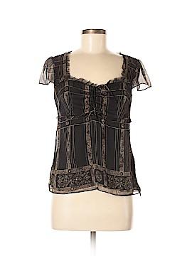 Alfani Short Sleeve Silk Top Size 6 (Petite)