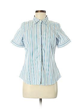Ann Taylor Factory Short Sleeve Button-Down Shirt Size 6 (Petite)