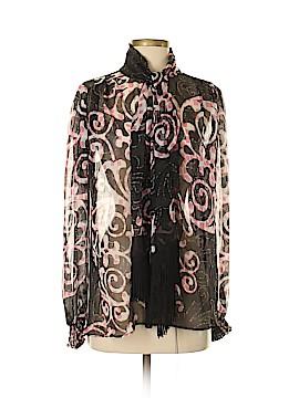 Analili Long Sleeve Silk Top Size S