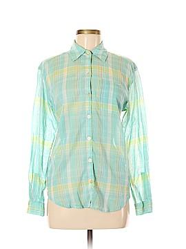 Crazy Horse Long Sleeve Button-Down Shirt Size M