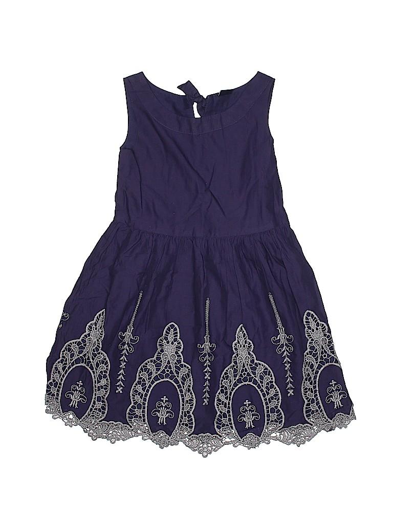 67fa8edf8994 Gap Kids 100% Cotton Solid Dark Blue Dress Size 6 - 7 - 67% off ...
