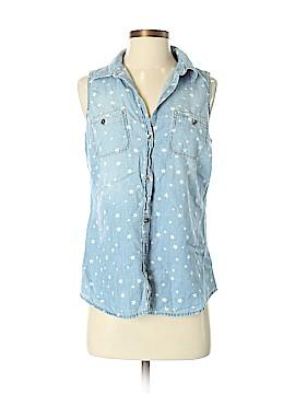 SONOMA life + style Sleeveless Button-Down Shirt Size S