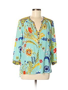 Hale Bob 3/4 Sleeve Silk Top Size M