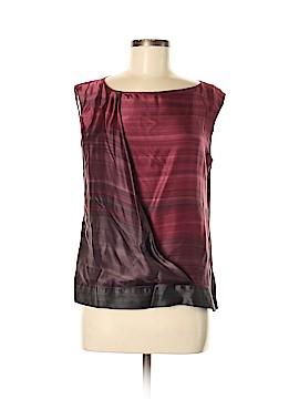 Rene Lezard Short Sleeve Silk Top Size 38 (IT)