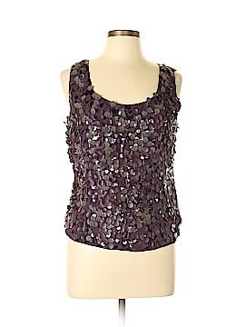 Ellen Tracy Sleeveless Silk Top Size 10 (Petite)