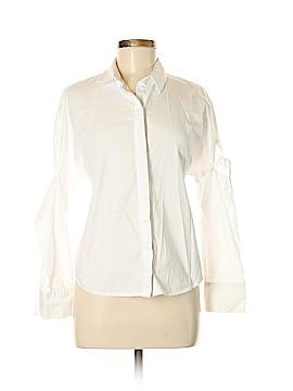 Topshop Long Sleeve Button-Down Shirt Size 6