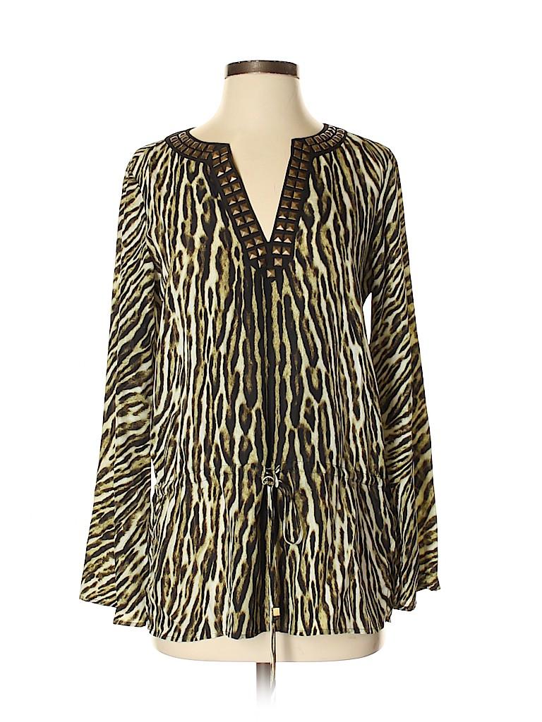 MICHAEL Michael Kors Women Long Sleeve Blouse Size 2