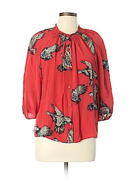 Tucker Long Sleeve Silk Top Size L