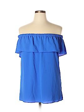 Rose & Olive Short Sleeve Blouse Size XL