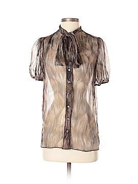 Dolce & Gabbana Short Sleeve Silk Top Size 38 (IT)