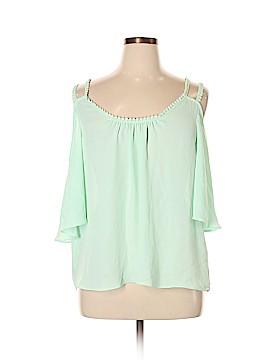 Katia Short Sleeve Blouse Size 1X (Plus)