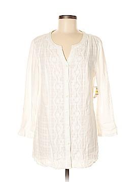 JM Collection 3/4 Sleeve Button-Down Shirt Size M