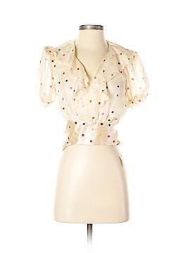 Agent Provocateur Short Sleeve Silk Top Size 3