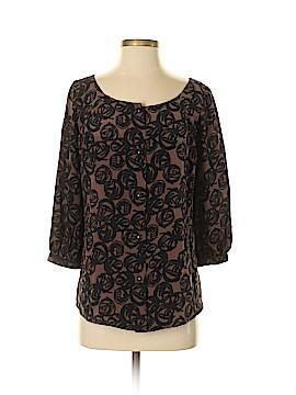 Leona by Lauren Leonard Long Sleeve Silk Top Size XS