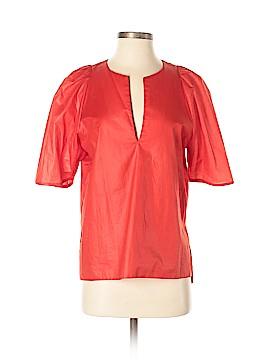 Cynthia Rowley TJX Short Sleeve Silk Top Size M