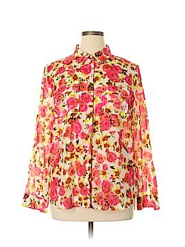 Ann Taylor Long Sleeve Button-Down Shirt Size 14