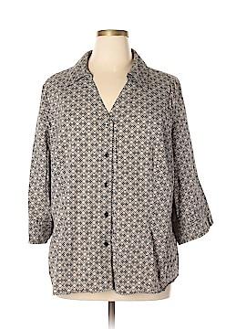 Alfani Short Sleeve Button-Down Shirt Size 24 (Plus)