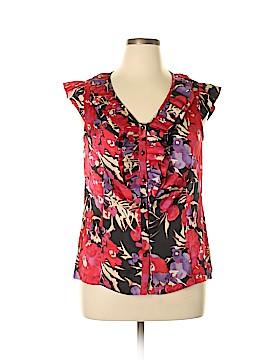 AK Anne Klein Short Sleeve Blouse Size 14